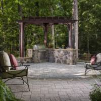 Residential hardscape projects located in Tennessee and North Carolina utilizing Belgard products manufactured by Adams Building Supply.